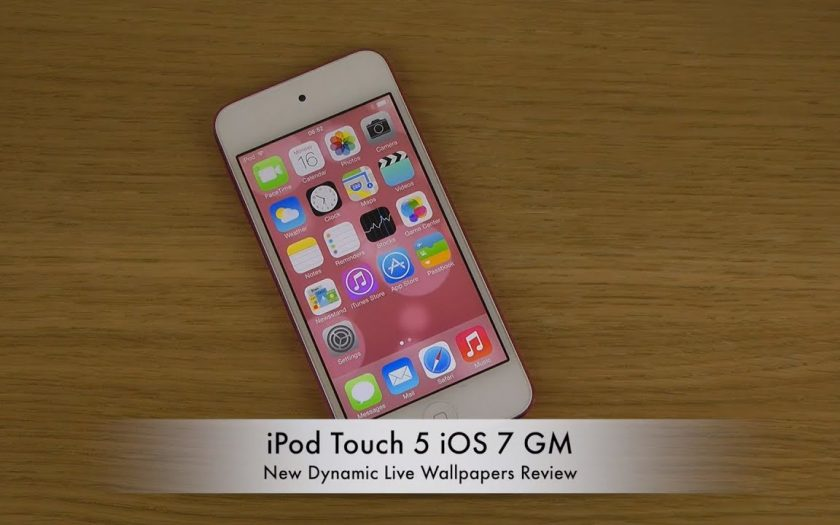 iPod Touch 5 iOS 7 GM – New Dynamic Live Wallpapers Review