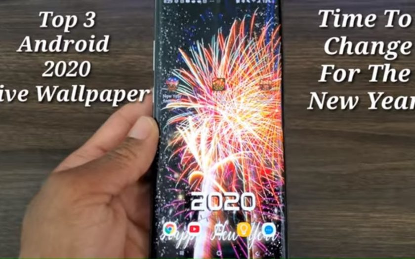 Top 3 Android 2020 New Years Animated Live Wallpapers