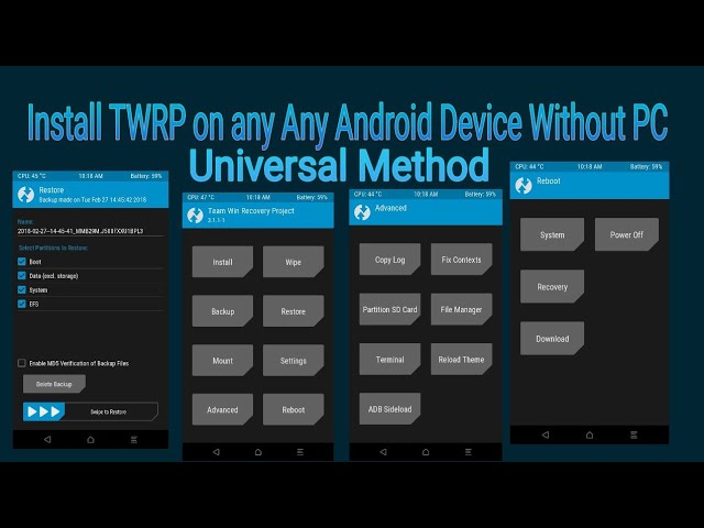 How install twrp recovery in android without pc