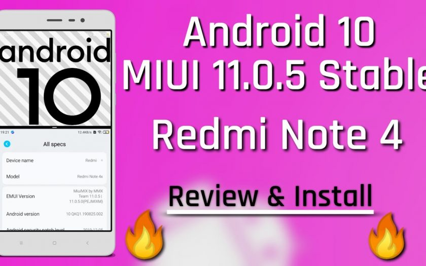Redmi Note 4 to Android 10 MIUI 11.0.5 Stable ROM Review & Install ??