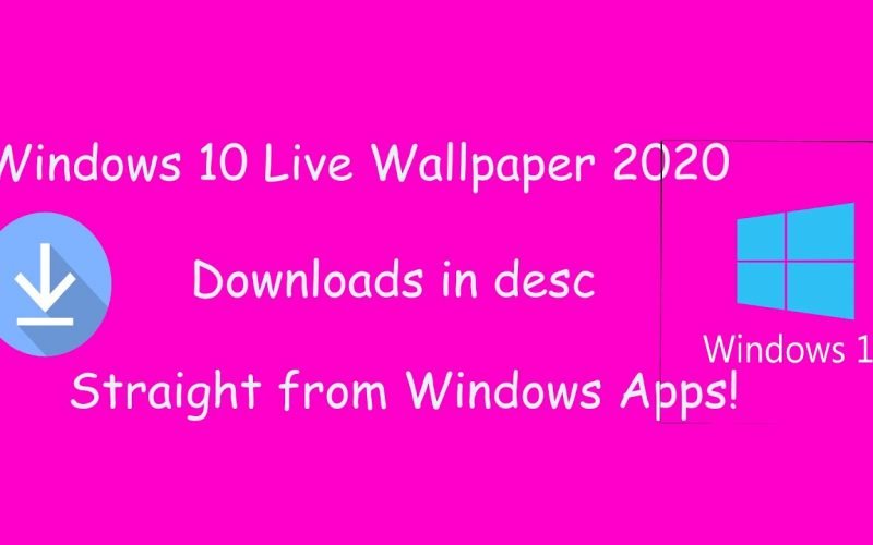 How to get Live Wallpapers on Windows 10 with only 1 software!