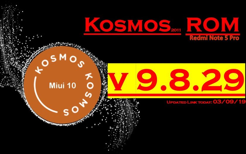 KOSMOS Pie ROM for Redmi Note 5 Pro 'Whyred'   Go for Latest Build v9.8.29 (Updated on 03.09.19)
