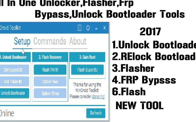 A new All In One Tool For Android-Unlocker-Unlock Bootloader-Root-flasher-FRP-WinDroid Toolkit v3.1
