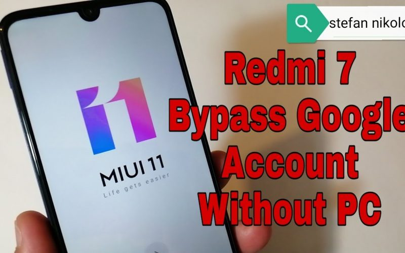 Xiaomi Redmi 7 /M1810F6LG/, Remove Google Account Bypass FRP. Without PC!!!
