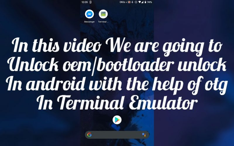How to unlock boot loader using otg | without pc