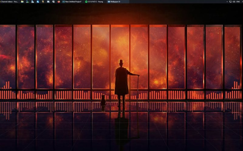 Best Windows 10 Live Background WallPaper With Audio Visualizer Bars!!! Nothing Beats This…