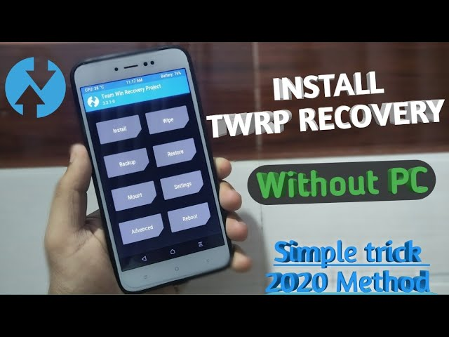 Install Twrp Recovery On Any Android Without PC || Official Twrp App || Full Twrp Installation 2020