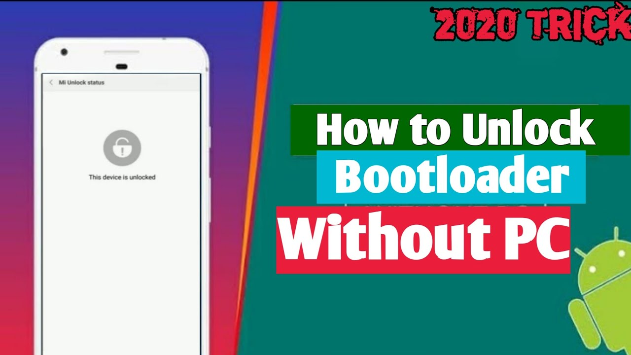 How to unlock bootloader without PC  No Root  2020 Trick  Just few seconds🔥