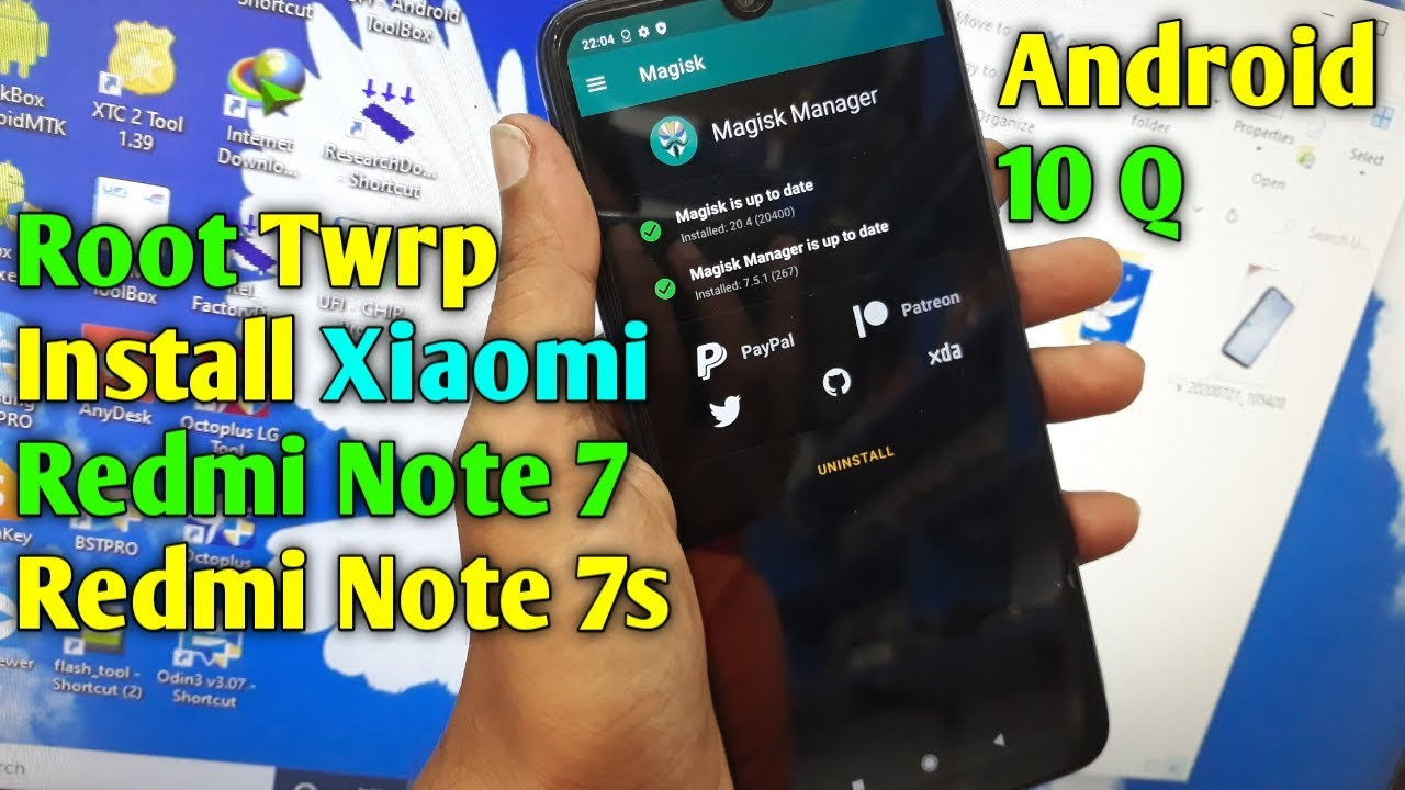 Root Twrp Install Xiaomi Redmi Note 7/7S Android 10 Q | How To Root Redmi Note 7S/7 Android 10 Q