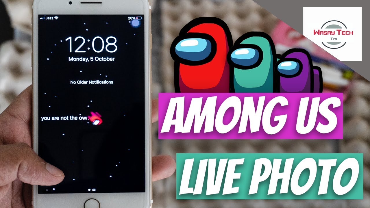 How to Have AMONG US Live Wallpaper on your iPhone | AMONG US Live Photo on iPhone (flexonyall)
