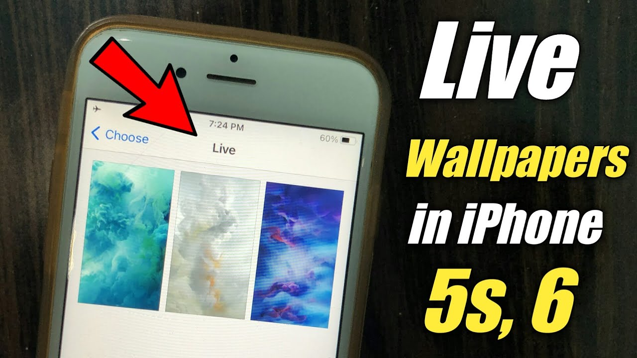 How to get live  wallpapers in iphone 6