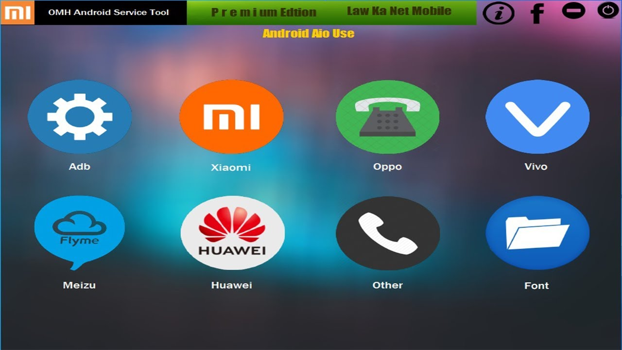Android Service Tool Unlock Xiaomi Oppo Vivo Huawei – Fix Unlock Bootloader,Frp,Remove Pattern