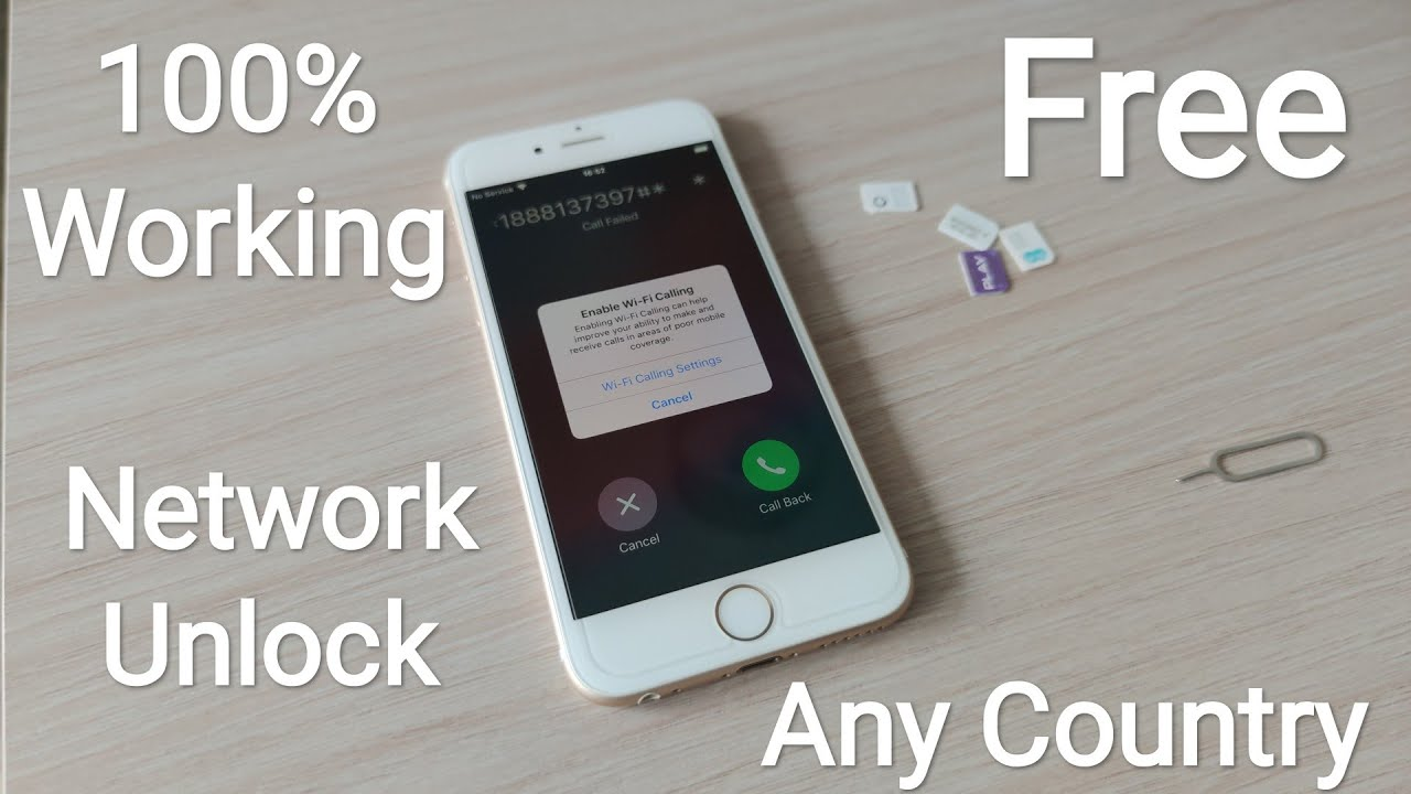 Network Unlock Any SIM/Carrier All Models iPhone Any Country in World 100% Success