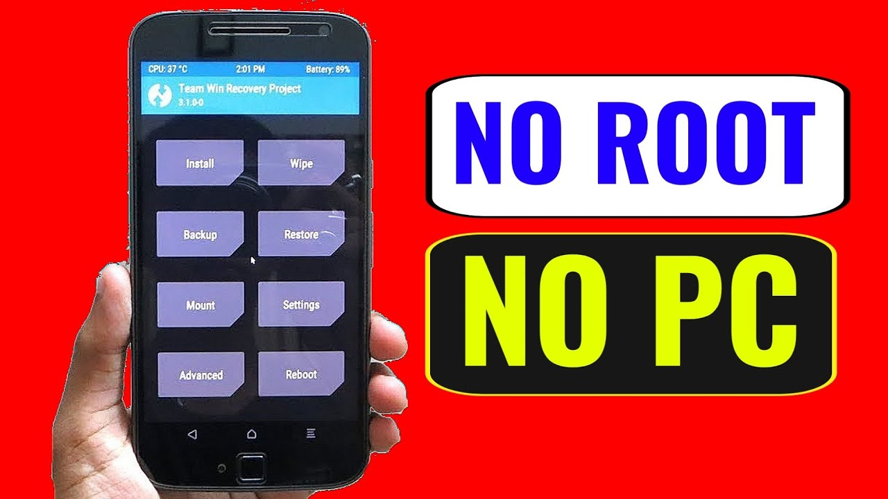 Install TWRP Recovery Without PC & ROOT || Install Any Custom Recovery || App to flash TWRP