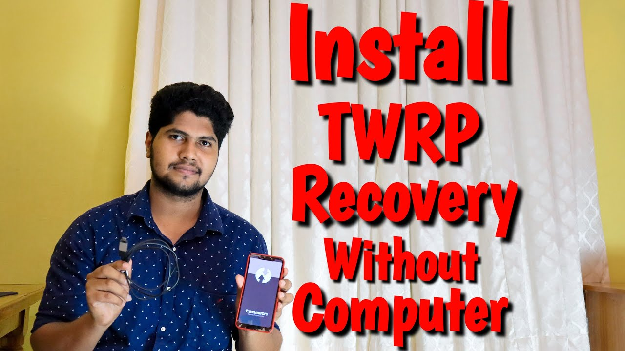 How to install twrp recovery without computer malayalam | Install twrp without pc