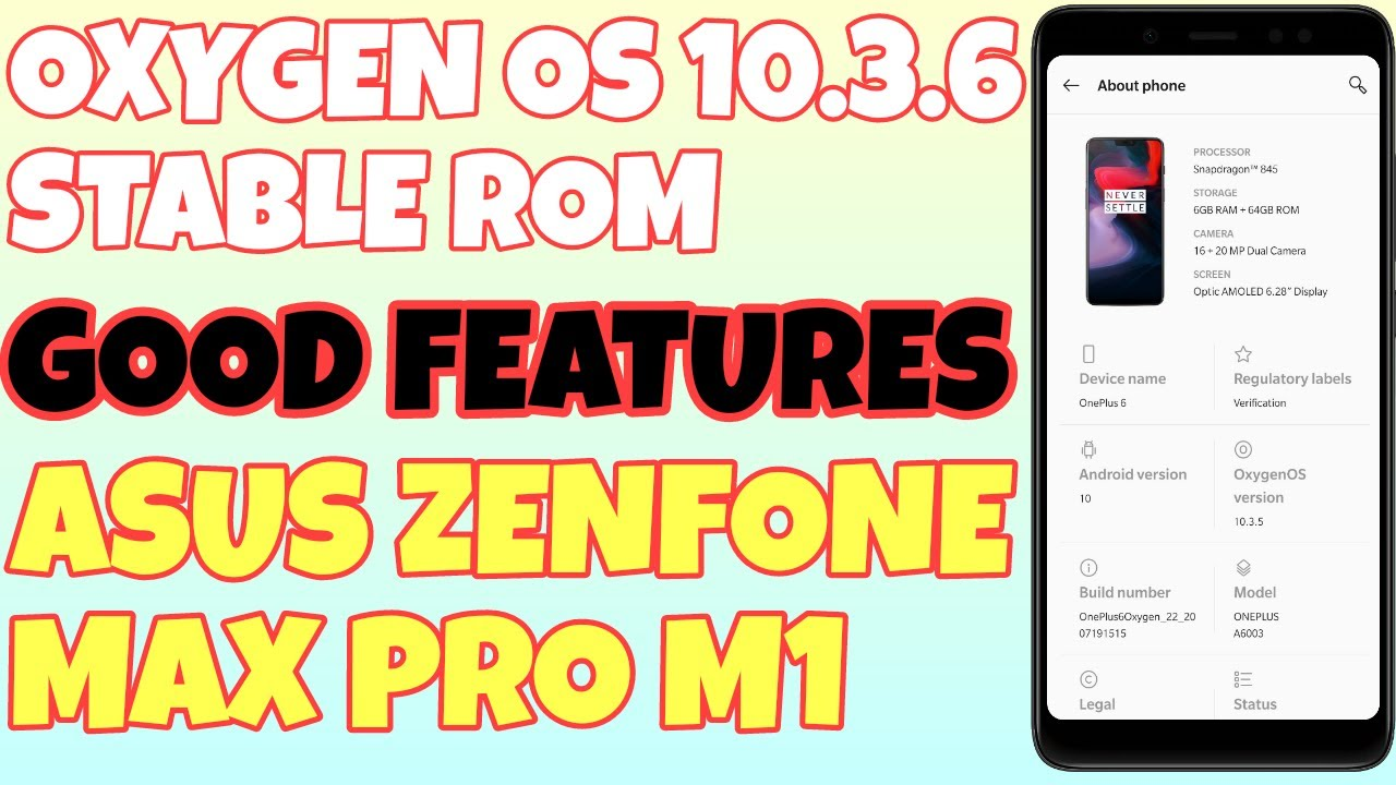 Oxygen OS Port stable 10.3.6 for Asus zenfone max pro m1 | Full review video | Newtechlearners |