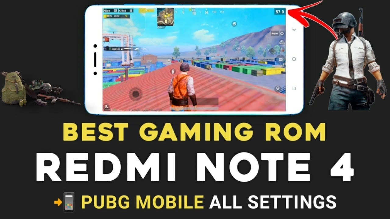 Best Gaming Rom For Redmi Note 4   Android 10   Pubg Mobile Gameplay & All Settings   Corvus 5.0 Rom