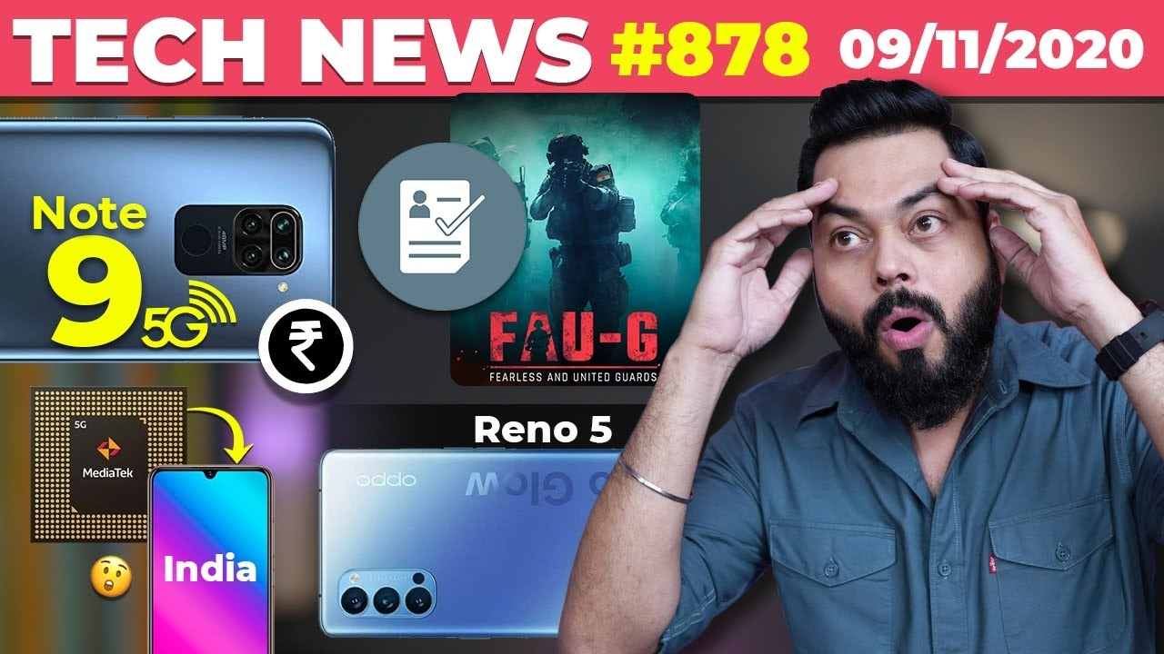 FAUG Pre-registration,Redmi Note 9 5G Price Leaked,Dimensity Phones Coming,Reno 5,BigBasket-#TTN878 #android