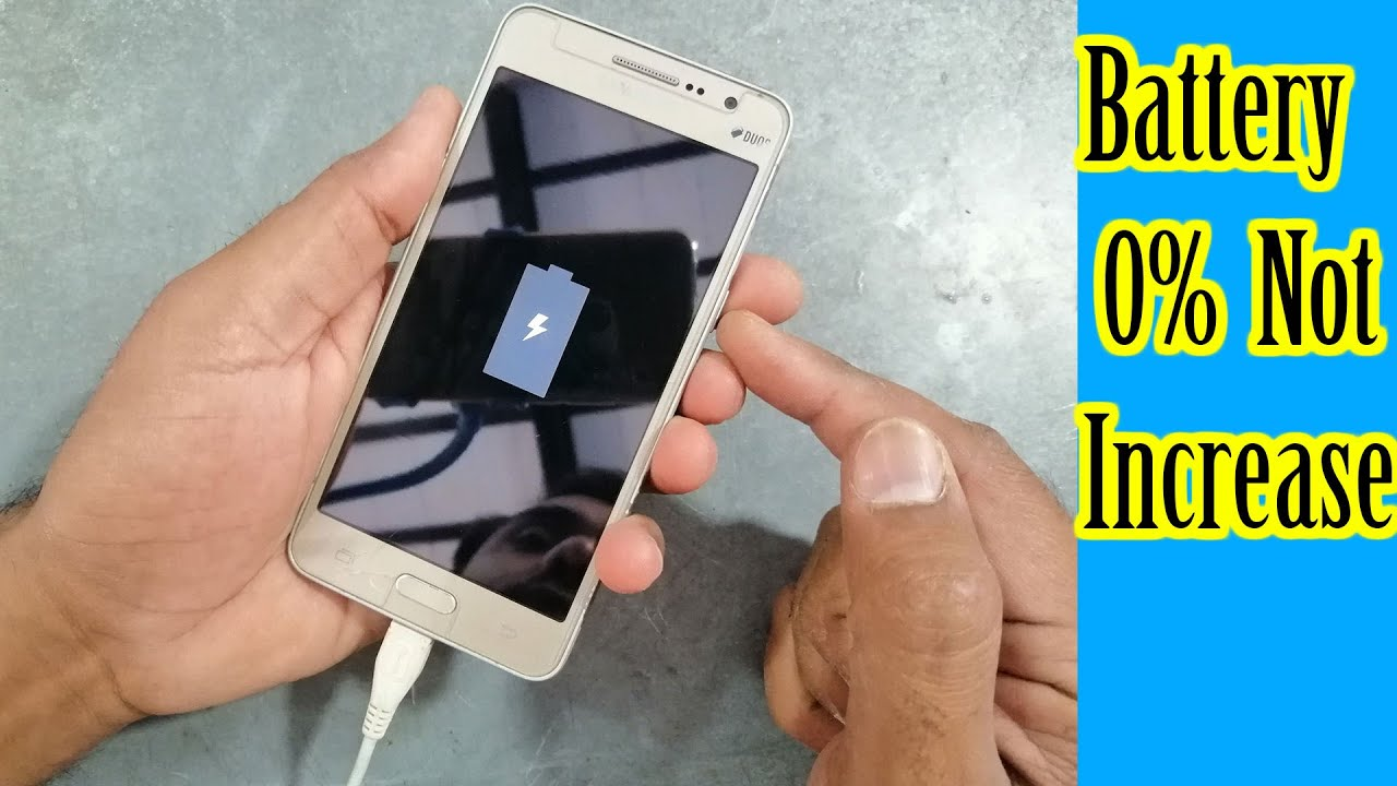 How to charge start died Samsung mobile phone battery not charging problem solution