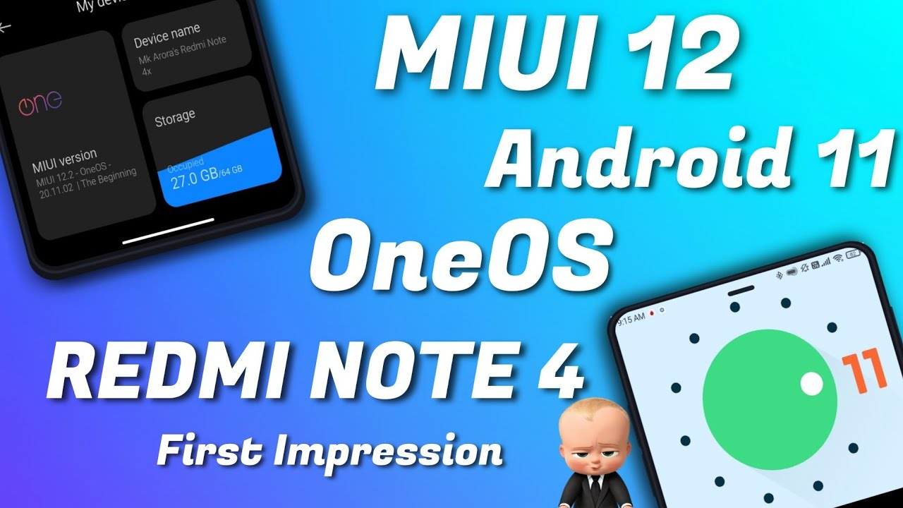 First Android 11 MIUI 12 (OneOS) ROM on REDMI NOTE 4 | OneOS Redmi note 4 | MIUI 12 A11 Redmi Note 4