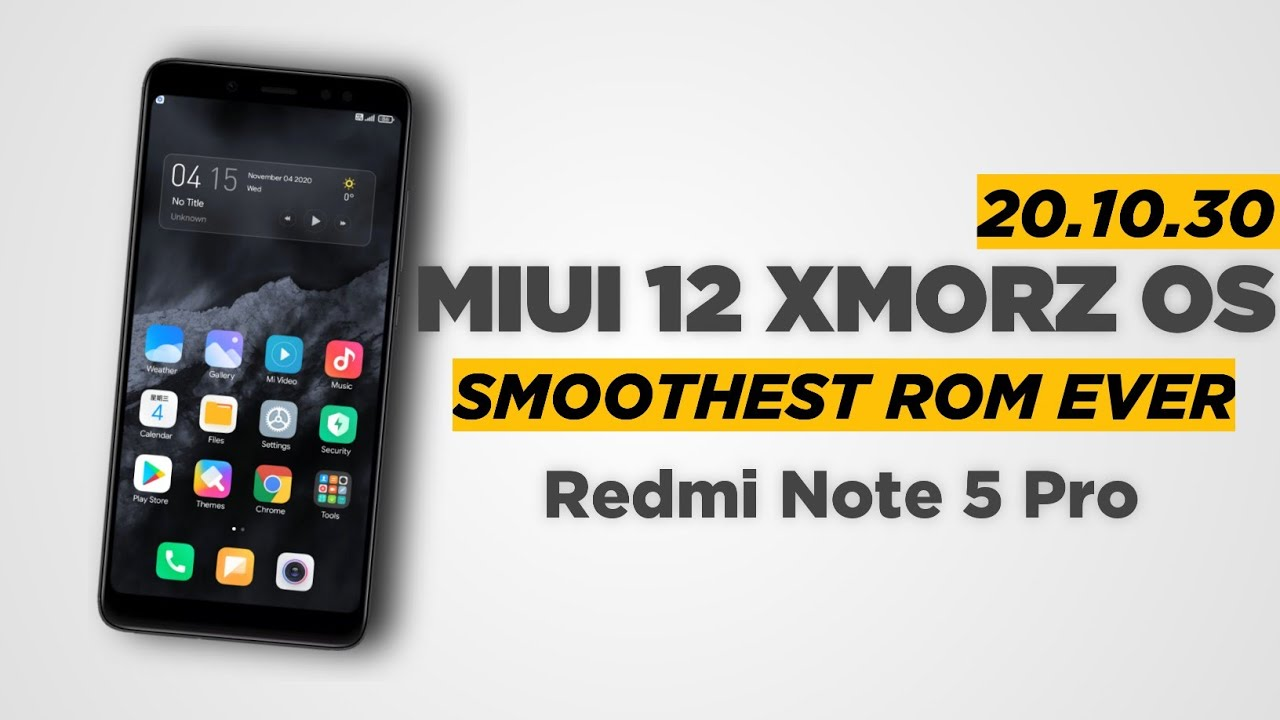 Latest Xmorz 20.10.30 Update For Redmi Note 5 Pro | A Very Smooth Package 😍