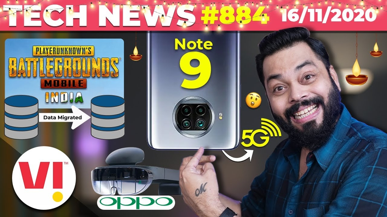 PUBG 🇮🇳 Users Data Migrated, Redmi Note 9 5G Launch, Vi Tariff Increase, OPPO AR Headset-#TTN884 #android