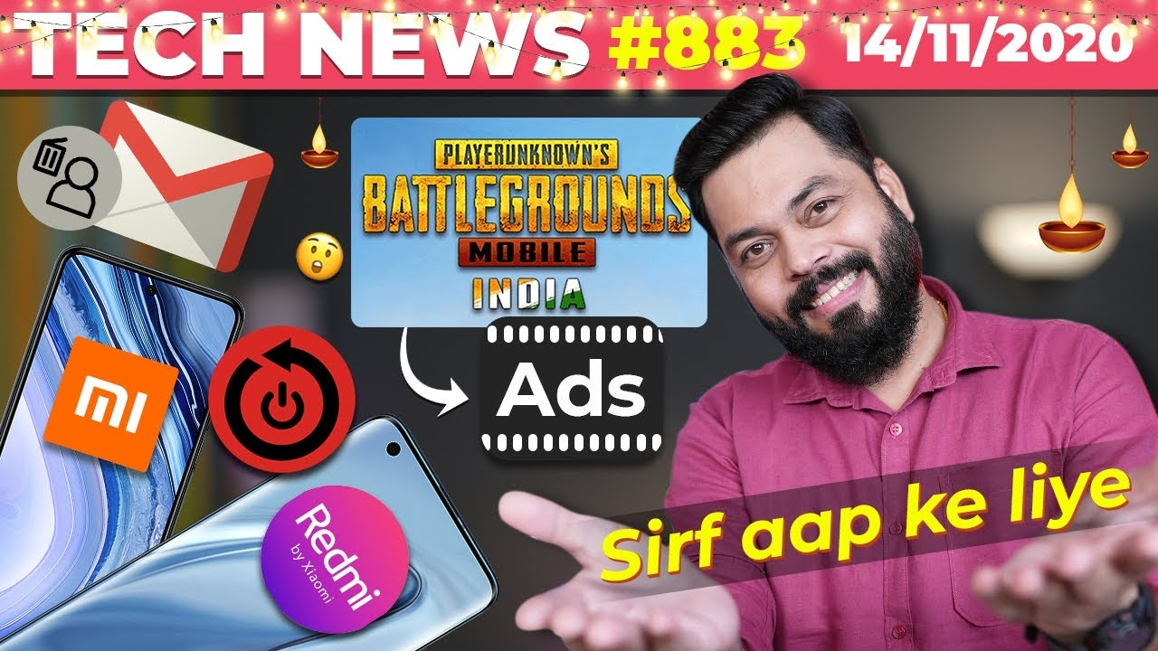 PUBG New Indian Ads, Redmi & Mi Smartphones Reboot, Gmail Account Deletion, Airpods Studio-TTN#883 #android