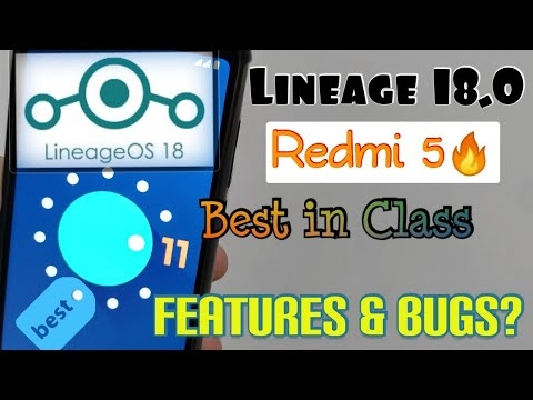 Redmi 5- Lineage OS 18.0 Updated Nov Build | Best Performance Rom | Jio Apk Working, Review Features #lineage #os #lineageos