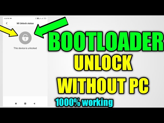Unlock bootloader without pc part 2