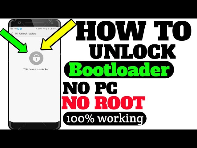 how to unlock bootloader without pc