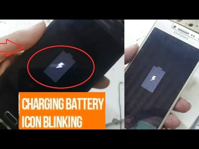 Any Android mobiles :  Fix Charging Problems, charging battery icon blinking