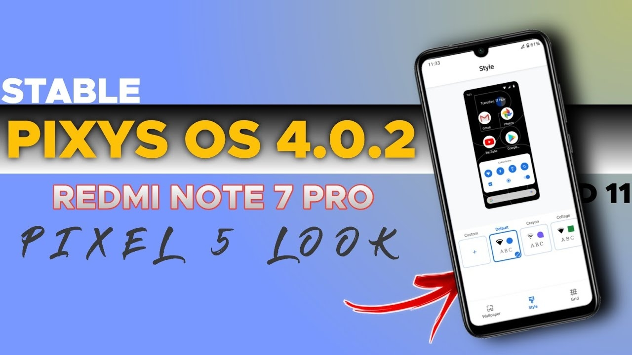 STABLE: Official Pixys OS 4.0.2 Android 11 Update For Redmi Note 7 Pro🤩🤩🤩 #android