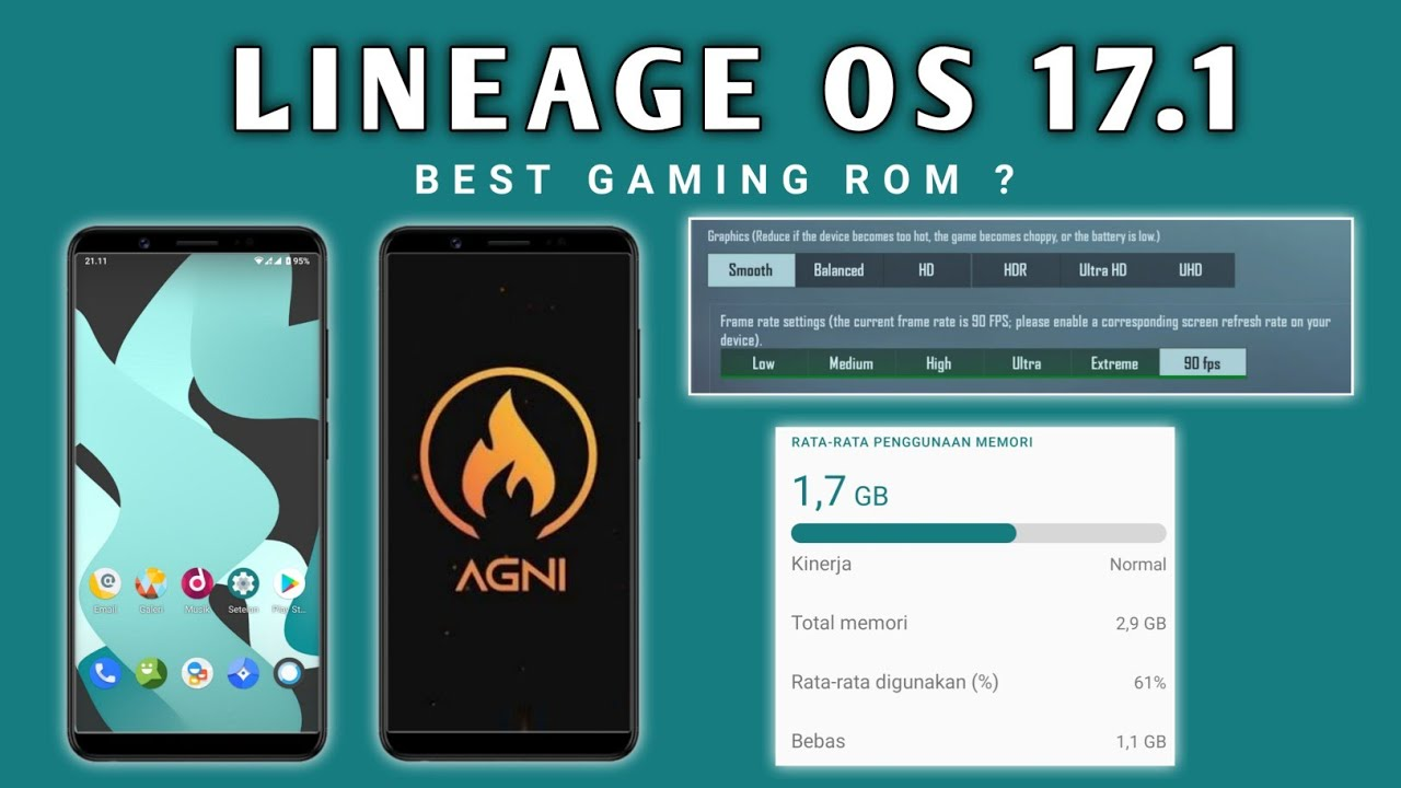 No 1 Gaming ROM❗LINEAGE OS 17.1 + AGNI 9.8 KERNEL + Module PUBG Mobile 90 FPS🔥REDMI NOTE 5 PRO