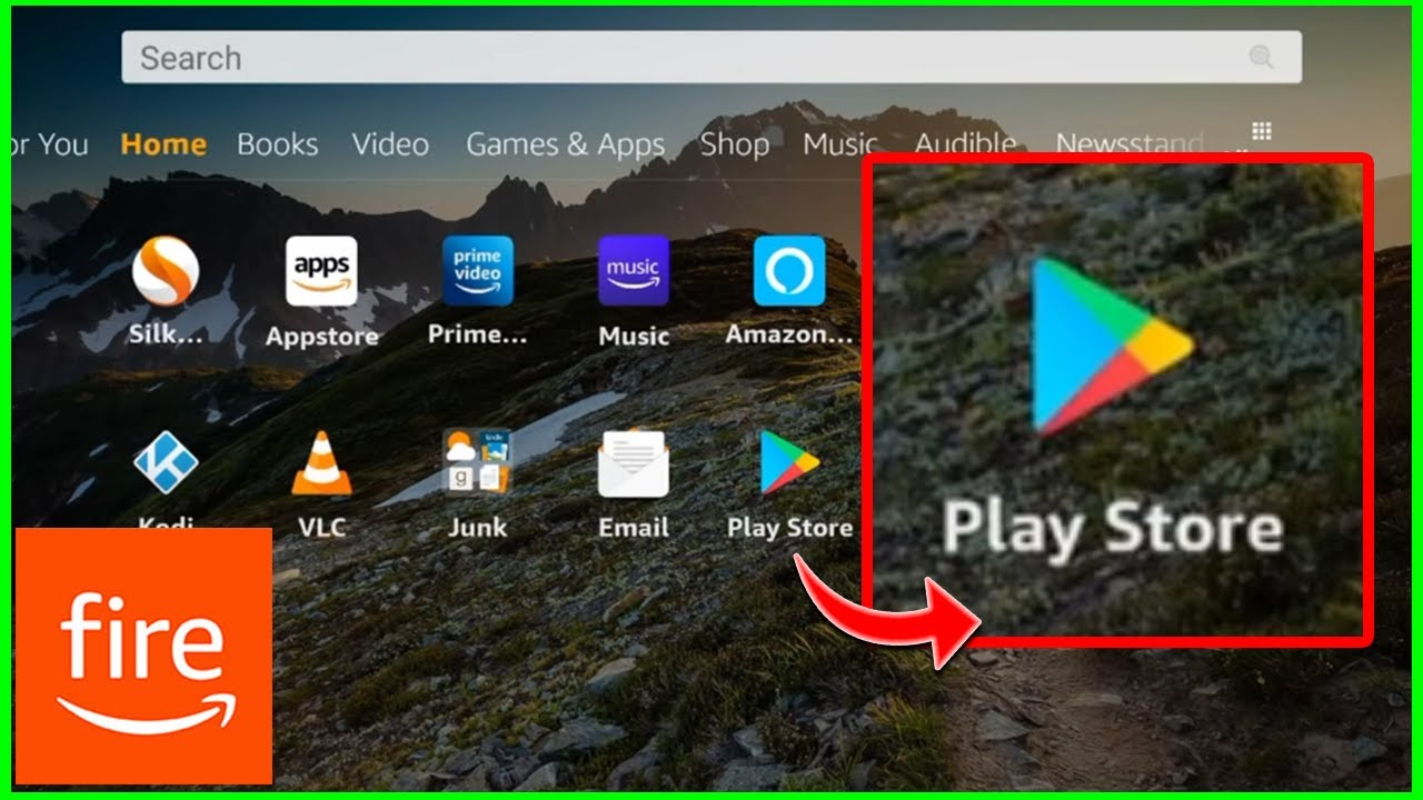 Download Google Play Store on Amazon Fire Tablet ✔️ (2021)