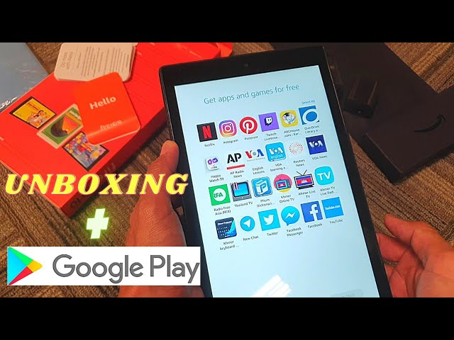 Unboxing Amazon Fire Tablet   Install the Google Play Store