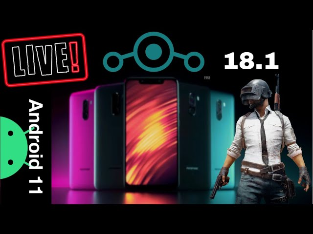 🔴LIVE | PUBG MOBILE | Poco F1 LINEAGE OS 18.1 | ANDROID 11 | LIVE GAMING TEST | FPS & HEAT TEST