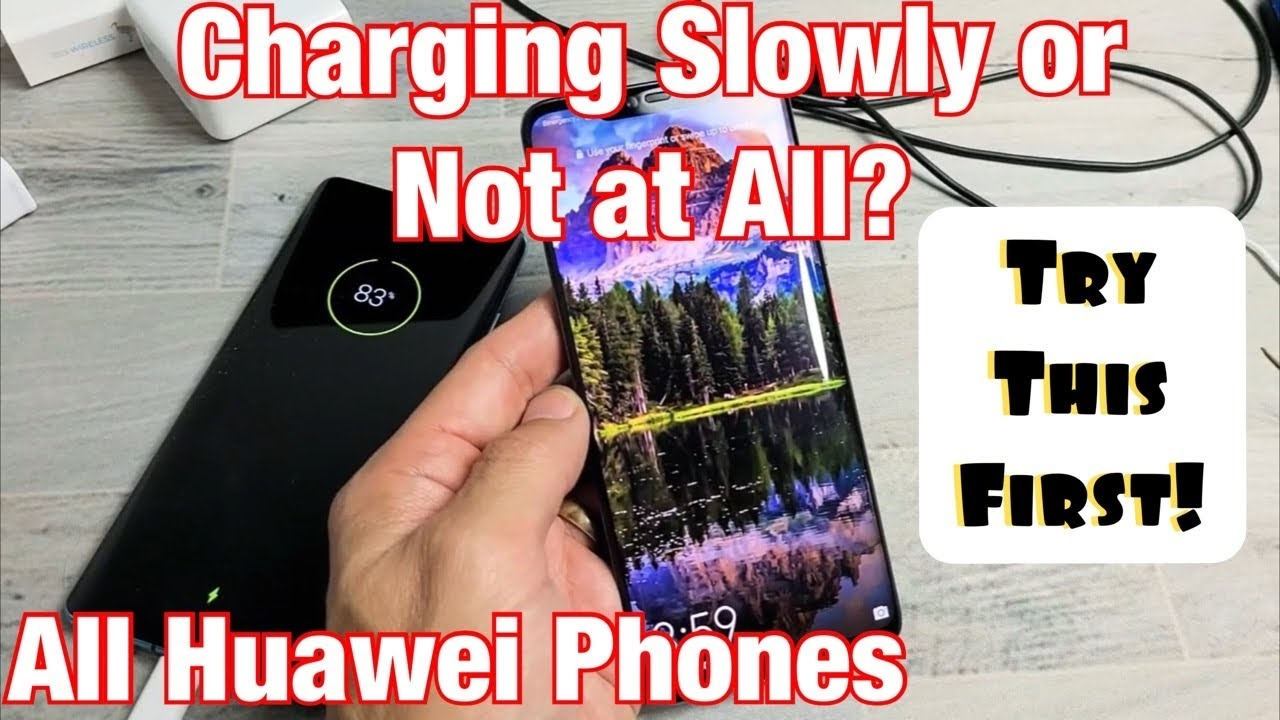 all huawei phones: slow or not charging? try this first!