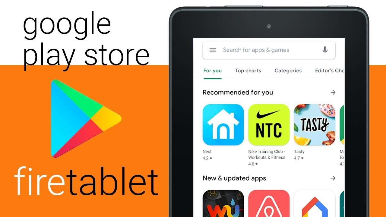 download google play store to the amazon fire 7 tablet 2021 guide
