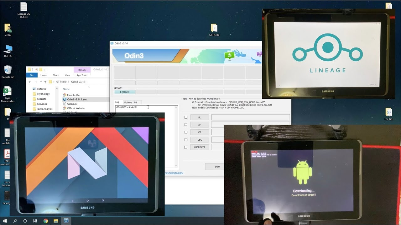 How to install Lineage OS 14.1 – Android 7.1 Nougat on Samsung Galaxy Tab 2