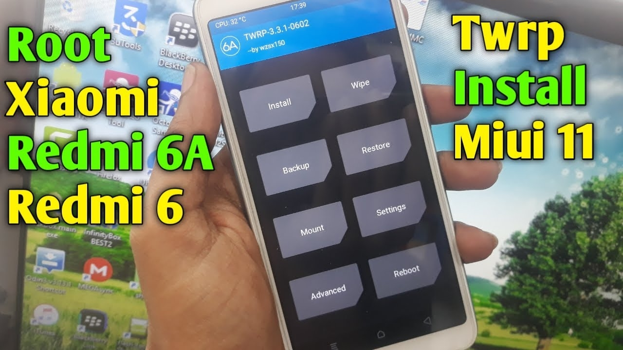 how to root xiaomi redmi 6a/redmi 6   twrp install   miui 11   root xiaomi redmi 6/redmi 6a   2020