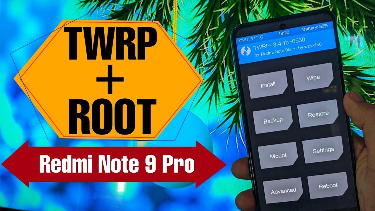 install twrp recovery & root redmi note 9 pro