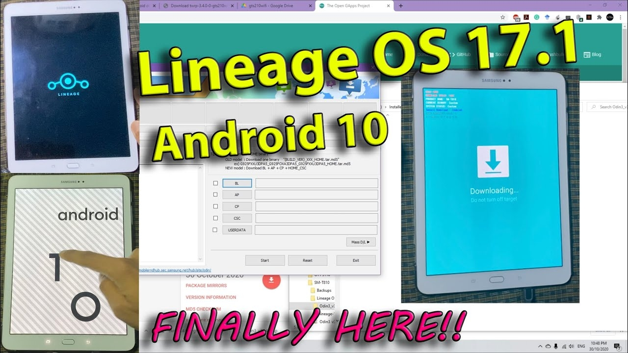 How to install Lineage OS 17.1 - Android 10 Q on Samsung Galaxy Tab S2