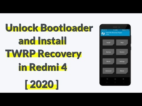 How to unlock bootloader and install twrp in redmi 4