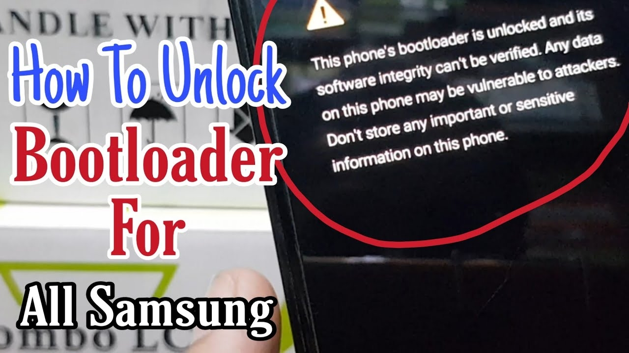 How To Unlock Bootloader For Samsung devices