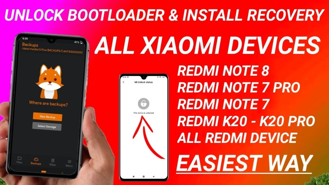 HOW TO UNLOCK BOOTLOADER   HOW TO INSTALL ORANGE FOX RECOVERY   REDMI NOTE 8, REDMI NOTE 7/7S, 7 PRO
