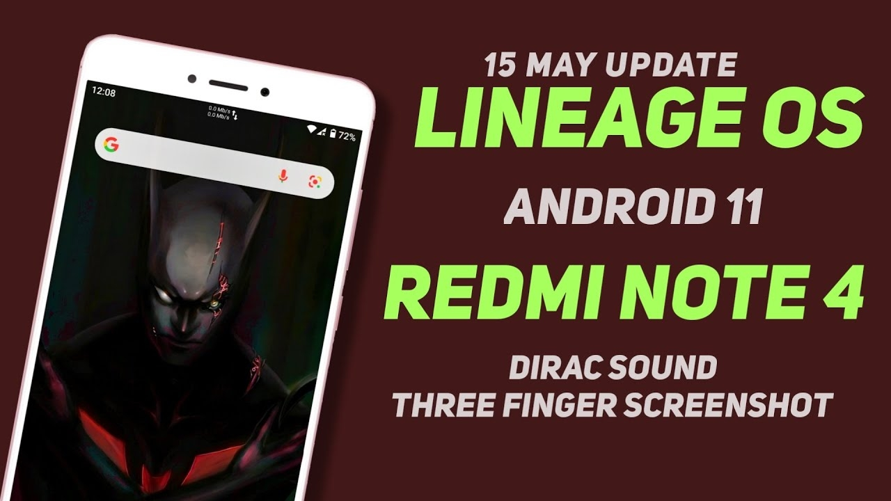 Lineage OS 18.1 Update For Redmi Note 4 | Android 11 | Three Finger Screenshot, Dirac Sound
