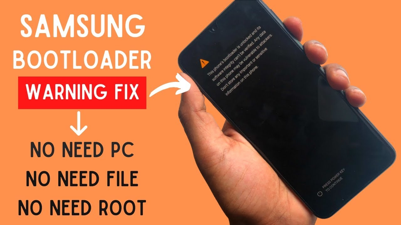 Samsung Bootloader Unlocked Warning Remove Without PC [All Model Worked]