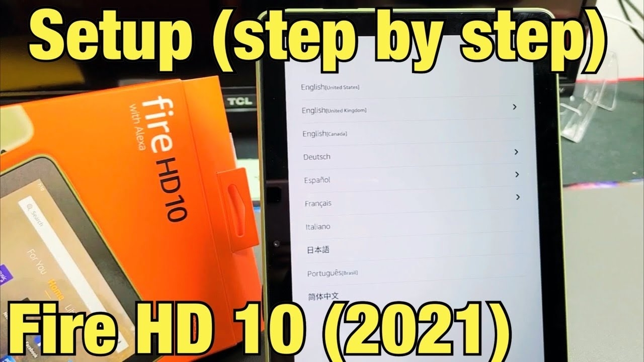Fire HD 10 Tablet (2021): How to Setup (step by step)