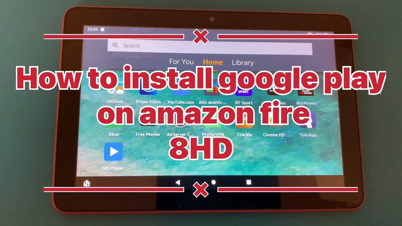 How to install google play on your amazon fire 8hd / 10hd tablet 100% working!!!