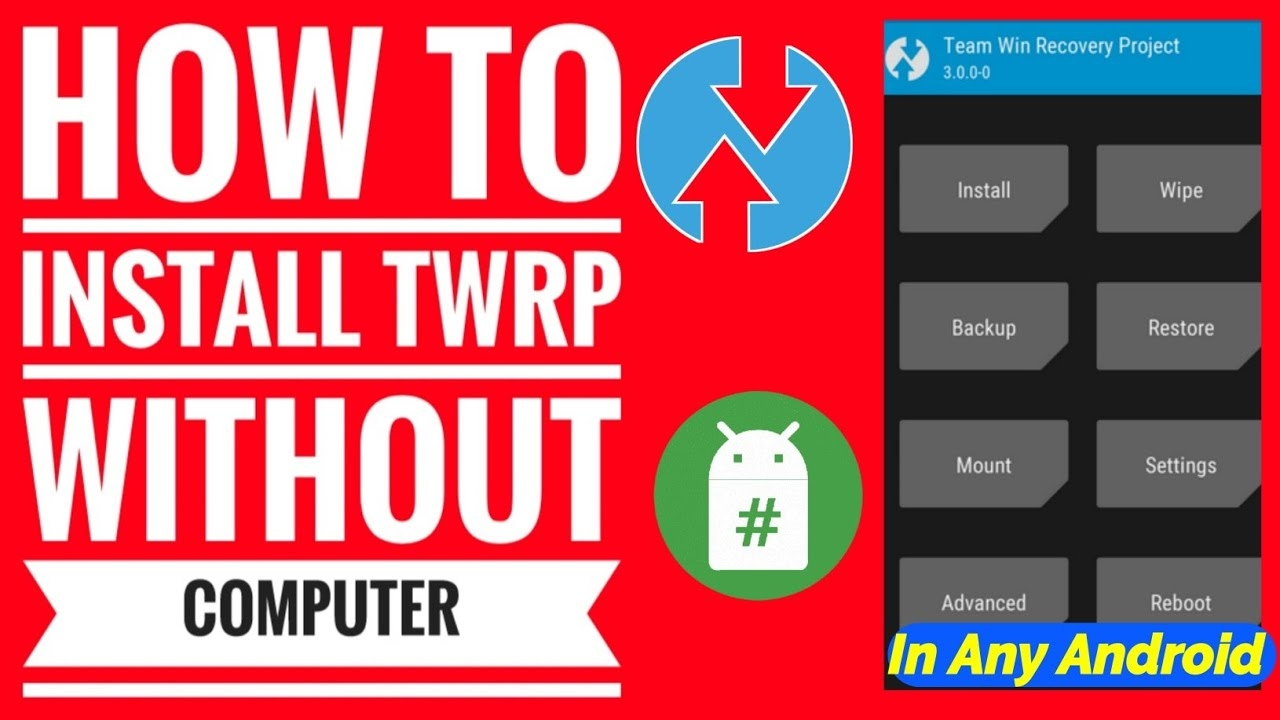 How To install Twrp Recovery Without Pc | Install Twrp Recovery without pc | Install Twrp recovery